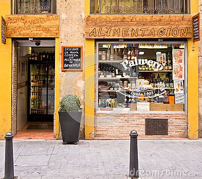 grocery store in valencia, spain