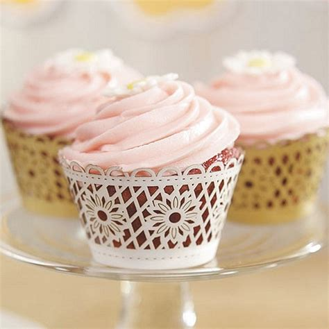 How To Make Cupcake Holders With Paper - floral deco filigree paper cupcake wrappers set of 12