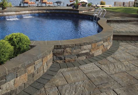Cambridge Patio, Pool, Stoop & Stair, Wall & Pillar, Water