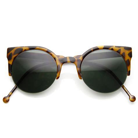 Half Frame Sunglasses womens fashion half frame cateye sunglasses ebay