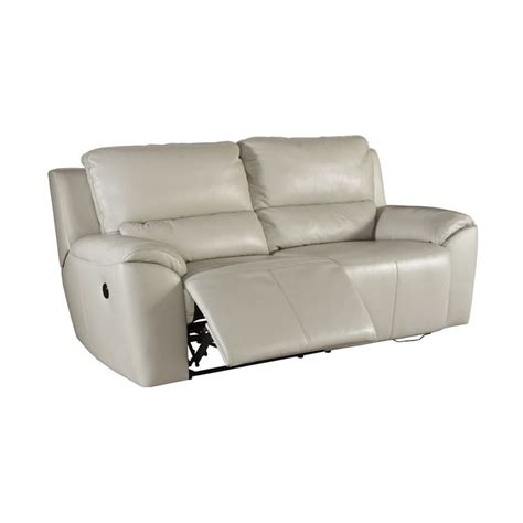 ashley valeton reclining sofa ashley valeton power reclining leather loveseat in cream