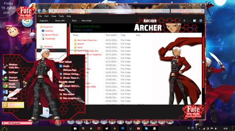 download theme anime for windows 7 free theme win 7 archer fate stay night by deej my anime style