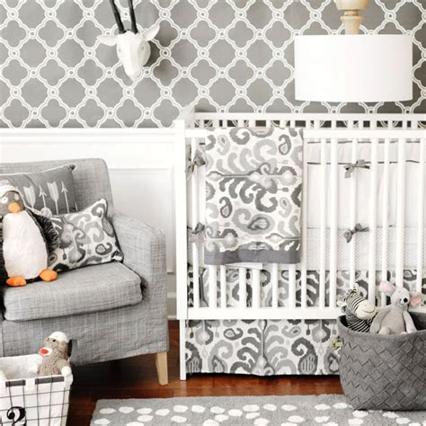 Nursery Archives Glitter Inc Glitter Inc Modern Neutral Crib Bedding