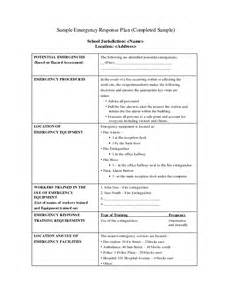 Emergency Response Policy Template by Best Photos Of Sle Emergency Plan Emergency