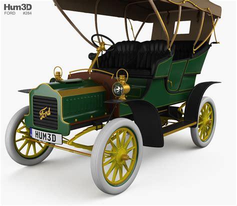 Ford Model F ford model f touring 1905 3d model hum3d