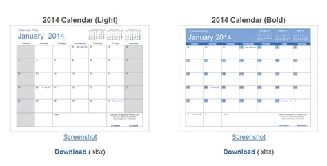 10 sites for download free calendar template html css