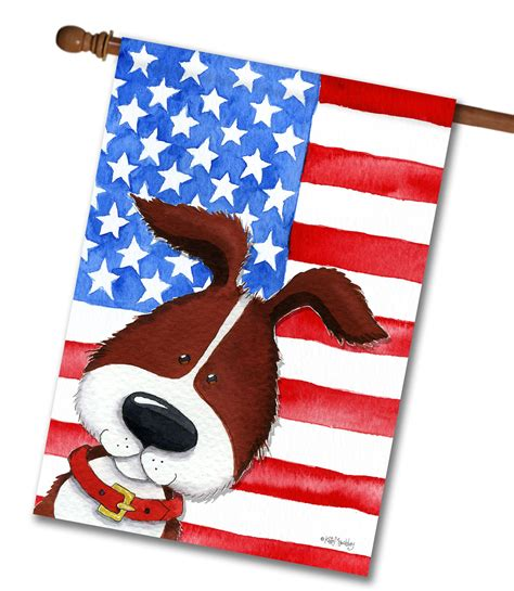 decorative flags for the home patriotic pup house flag 28 x 40 custom printed