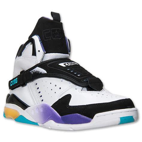 larry johnson basketball shoes converse aero jam white black peacock blue available