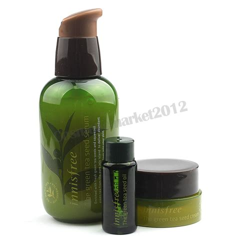 Innisfree New Green Tea Seed Serum Special Set innisfree green tea seed serum special set 80ml seed 6ml seed 10ml ebay