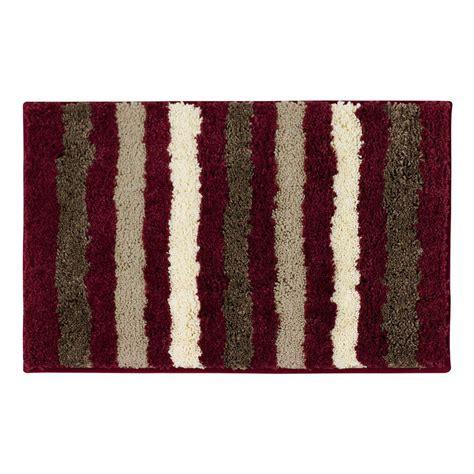 rugs in bathroom interdesign leaves 34 in x 21 in bath rug in brown tan 17411 the home depot