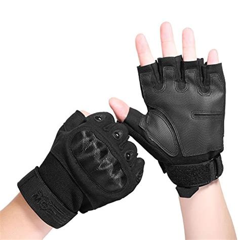 Glove Tactical Bikers Paintball Airsoft Impact Half reebow gear fingerless knuckle tactical