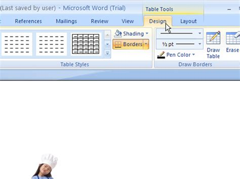 Change Table Style Word 2007 How To Use The Word 2007 Table Tools Design Tab Dummies