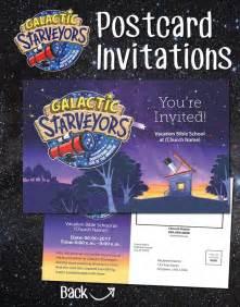 vbs flyer template galactic starveyors lifeway vbs theme postcard invitations