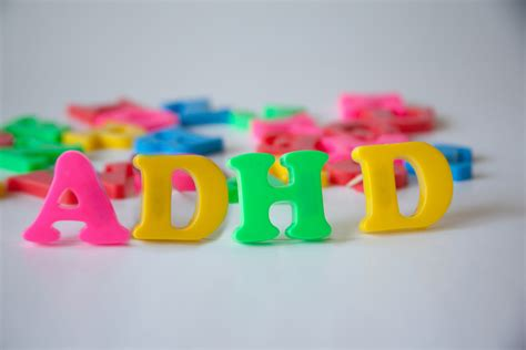 Creative Letters adhd letters letter magnets arranged to spell adhd if