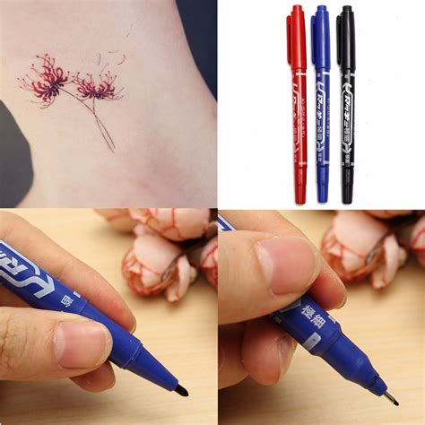 ballpoint pen tattoo transfer 3 colors tattoo transfer pen double ended skin marker