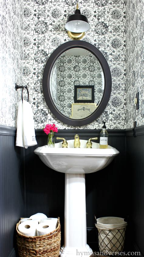 powder room wallpaper black and white tile wallpaper powder room hymns and