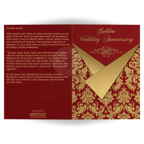 Wedding Anniversary Invitation Card Design by Wedding Invitation Designs And Gold Wedding