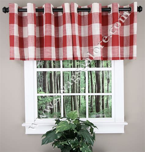 Black Kitchen Curtains And Valances Courtyard Grommet Valance Black Kitchen Valances