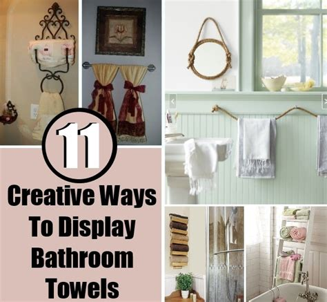 display bathroom 11 creative ways to display bathroom towels diy home things