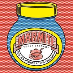 marmite photoshop experimentation using line drawing of