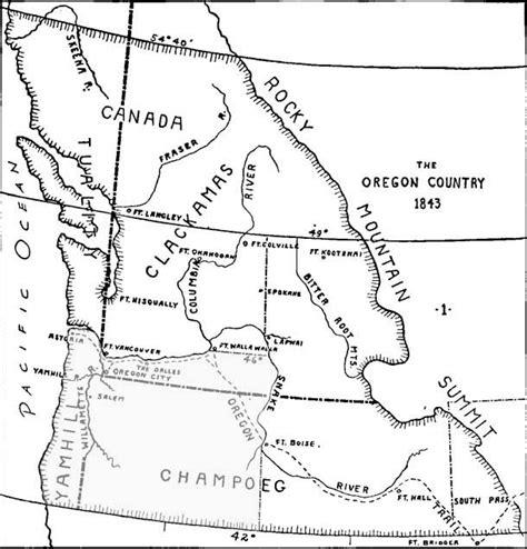 map of oregon territory oregon territory map 1843 genealogical society