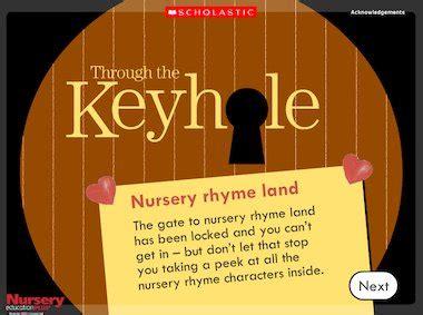 Nursery Land Early Character Education Book 1 through the keyhole nursery rhyme land early years