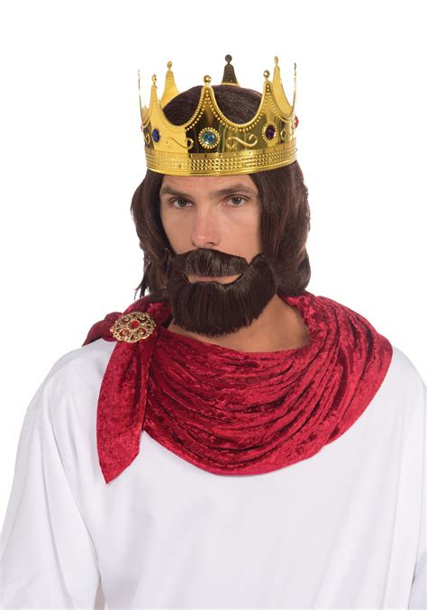 royal king royal king wig and beard set