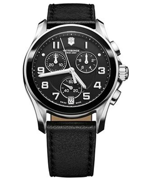 Swiss Army 24038 Ring Black Leather victorinox swiss army s chronograph black leather 41mm 241545 watches
