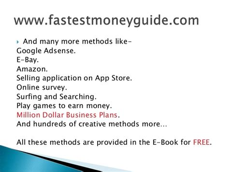 Fast Easy Way To Make Money Online - ways to make money online for teens fast and easy ways to make money how to really