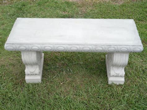 concrete patio benches 40 quot straight scroll concrete patio bench ebay