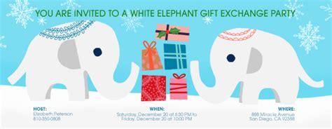 Gift Exchange Free Online Invitations White Elephant Invitations Templates