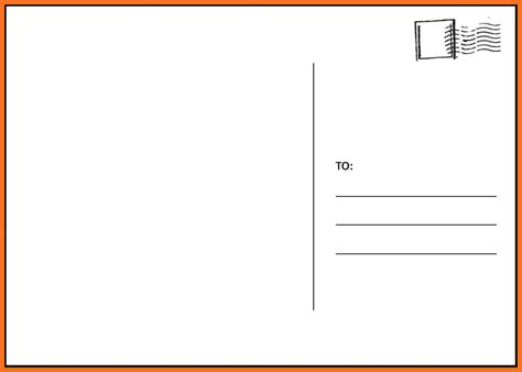 blank card template docs docs postcard template best business template