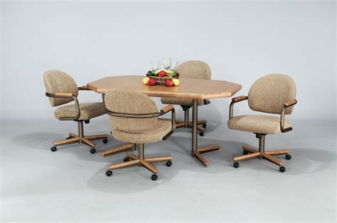 kitchen table chairs with casters dining table furniture dining table set caster chairs