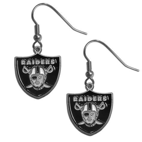 the sports fan zone oakland raiders dangle earrings