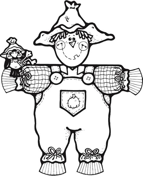 free mr scarecrow coloring pages