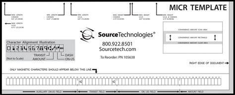 Micr Check Printer Basics Source Technologies Micr Check Template