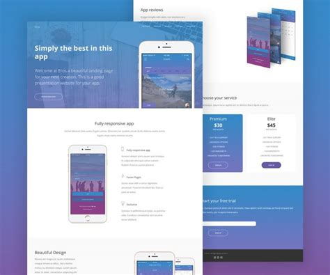 App Website Template by Mobile App Website Template Psd Psd