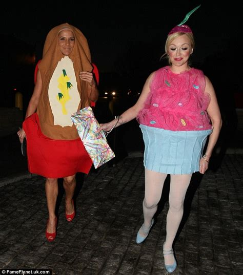Pregnant Couple Halloween Costume Ideas Fearne Cotton Jodie Marsh And Geri Halliwell Don Fancy Dress As They Help Leigh Francis