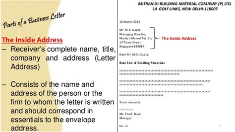 Business Letter Format Singapore business letter and memo writing presentation