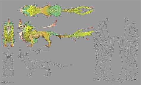 creature design imp by christopheronciu creature design jungle griffin design sheet by