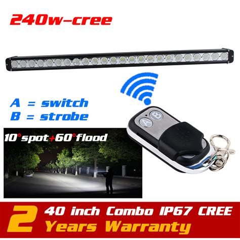 40 240w Cree Led Light Bar Wireless Remote Strobe Light Wireless Led Light Bar