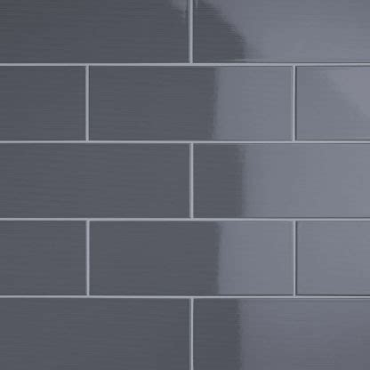 Subway Tile Backsplash In Kitchen by Johnson Vvd9a Vivid Dark Grey Gloss Brick Ceramic Wall Tile 400x150x10mm