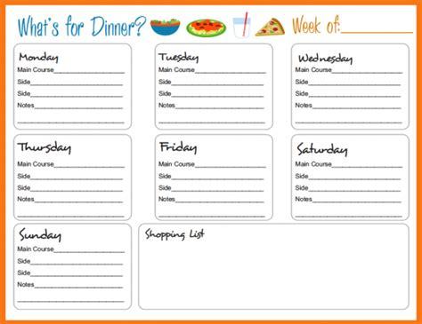 24 template for menu planning menu planner template format