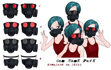 anime girl wallpaper pack zip mmd gas mask pack 2 dl by mmdfakewings18 on deviantart
