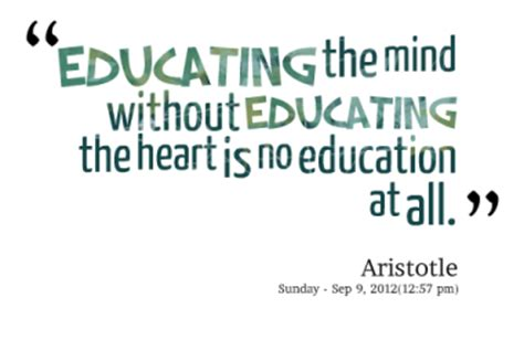 aristotle biography tagalog educating the mind without educating the heart is no