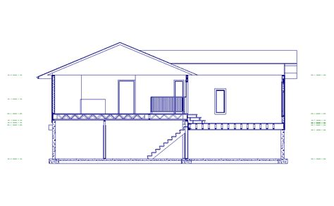cross section view kittleson construction drafting