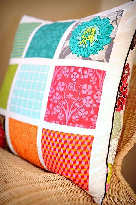 Patchwork Pillow Pattern - diy home sweet home patchwork pillow