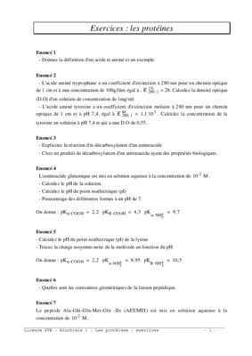 Exercices Corrigees Biochimie Clinique Pdf Notice Amp Manuel
