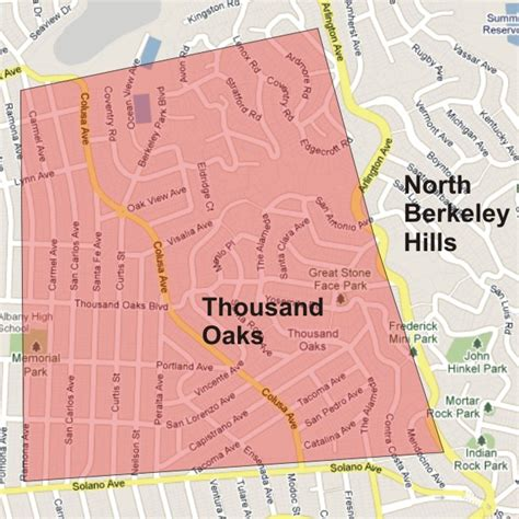 maps thousand oaks homes for sale in berkeley s thousand oaks berkeley ca