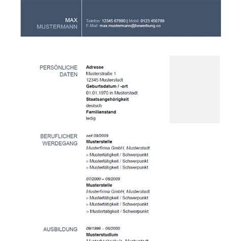 Vorlagen Für Modernen Lebenslauf clean modern cv schlichter 252 bersichtlicher